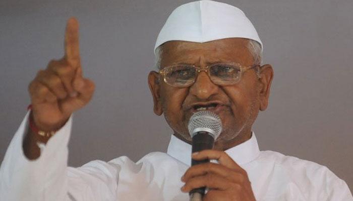 चुनाव चिन्ह हटाने को अन्ना हजारे का देशव्यापी आंदोलन शुरू