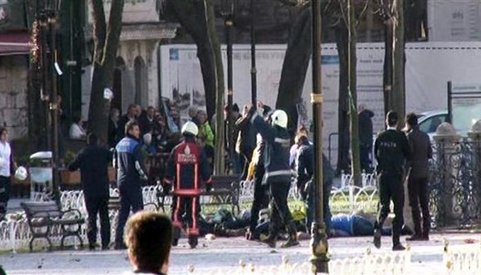 इस्तांबुल के पर्यटन स्थल पर विस्फोट, 10 लोगों की मौत