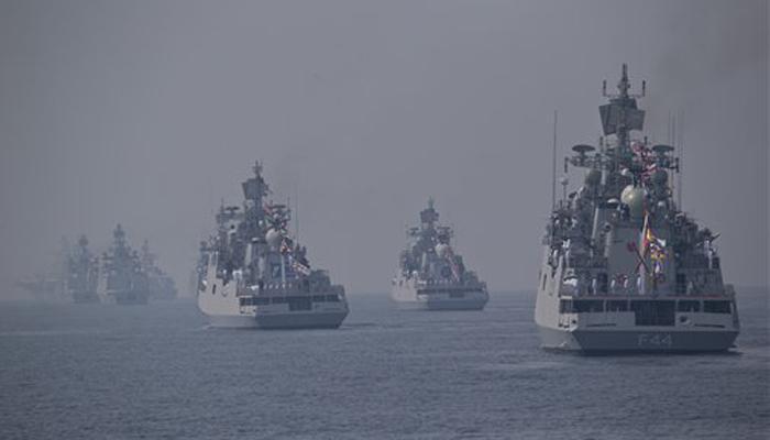 इंटरनेशनल फ्लीट रिव्यू में भारतीय नौसेना ने दिखाई अपनी ताकत