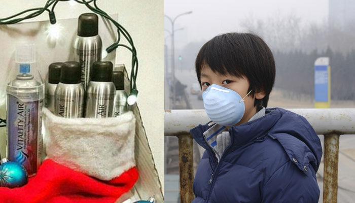 चीन में बिक रही है हवा, एक बोतल की कीमत 7800 रूपये!