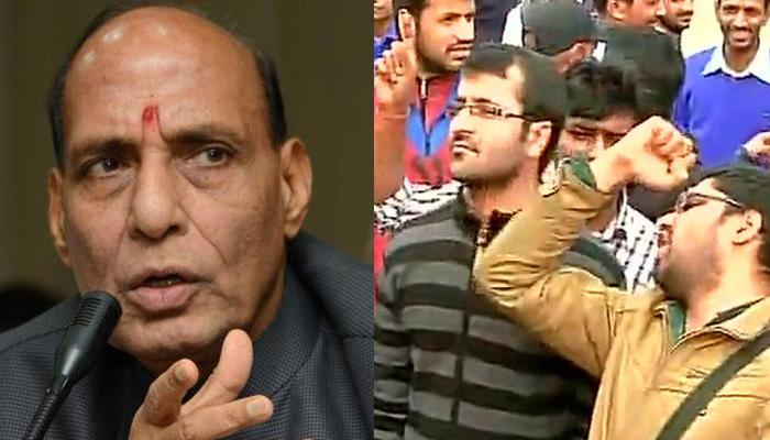 राजनाथ ने कहा-जेएनयू में अफजल पर हुए कार्यक्रम को हाफिज सईद का था समर्थन, विपक्ष ने मांगे सबूत