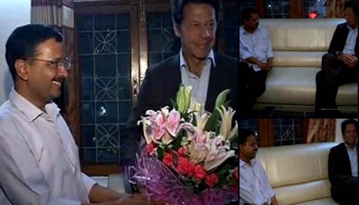 इमरान खान ने दिल्ली के सीएम केजरीवाल से मुलाकात की