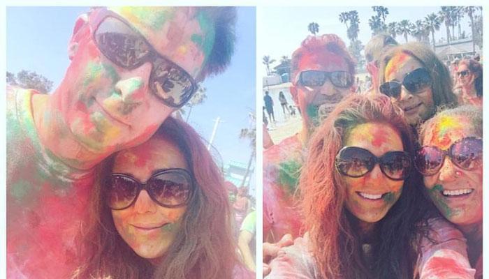 टीम इंडिया की जीत पर प्रीति जिंटा ने पति के साथ जमकर खेली होली