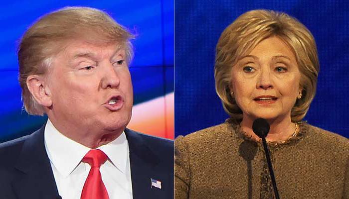 चुनाव पूर्व सर्वे: अमेरिका में राष्ट्रपति पद के चुनाव में ट्रंप, हिलेरी को अपनी-अपनी पार्टी में बढ़त प्राप्त