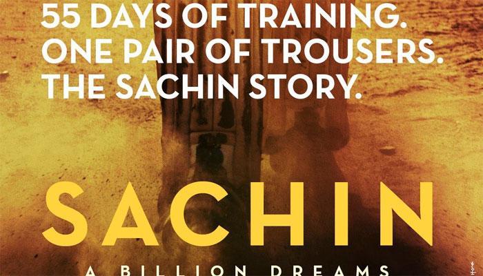 सचिन पर बन रही फिल्म का पहला पोस्टर जारी, 14 अप्रैल को रिलीज होगा टीजर