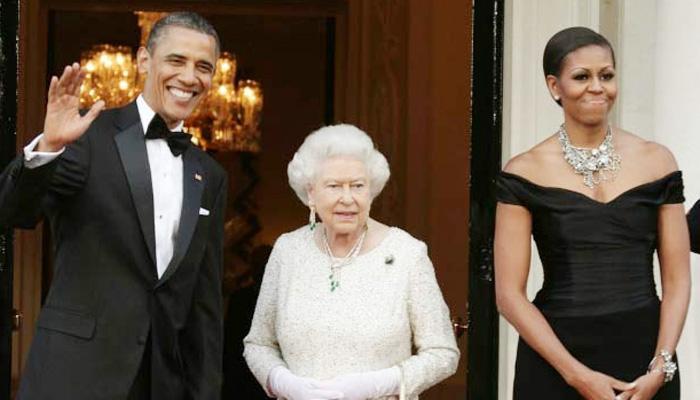 महारानी एलिजाबेथ द्वितीय के साथ भोज में शामिल होंगे बराक ओबामा और मिशेल ओबामा