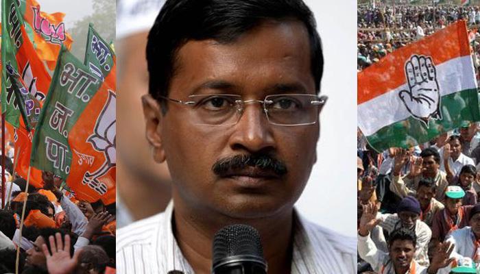केजरीवाल ने BJP और Congress को कहा- 'मिस्टर एंड मिसेज भाजपा-कांग्रेस', 'पति-पत्नी' जैसा बताया संबंध