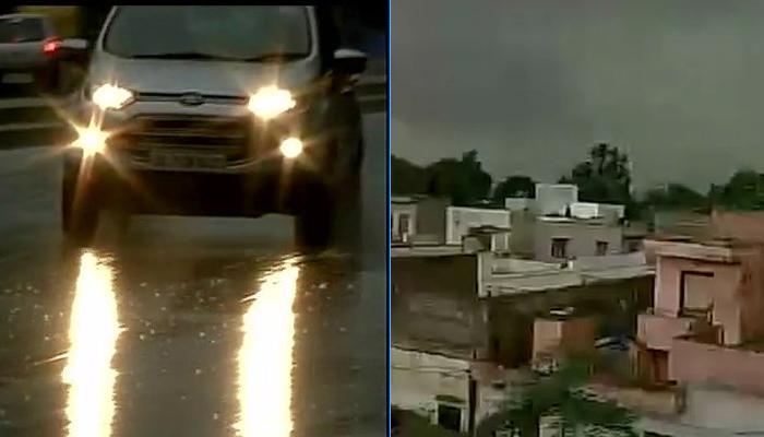 दिल्ली-एनसीआर में धूलभरी आंधी के बाद बारिश; दिन में छाया अंधेरा, तपती गर्मी से मिली राहत