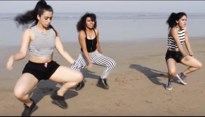 मुंबई के जुहू बीच पर तीन लड़कियों का 'अनूठा डांस', सोशल मीडिया पर वायरल हुआ VIDEO