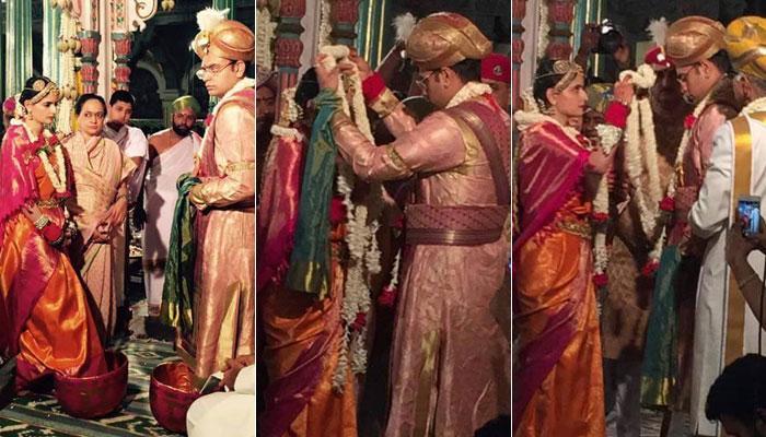 मैसूर राजघराने में शाही शादी, एक दूजे के हुए यदुवीर और तृषिका