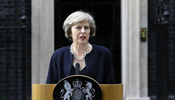 टेरेसा मे ने ब्रिटेन के प्रधानमंत्री का पदभार संभाला