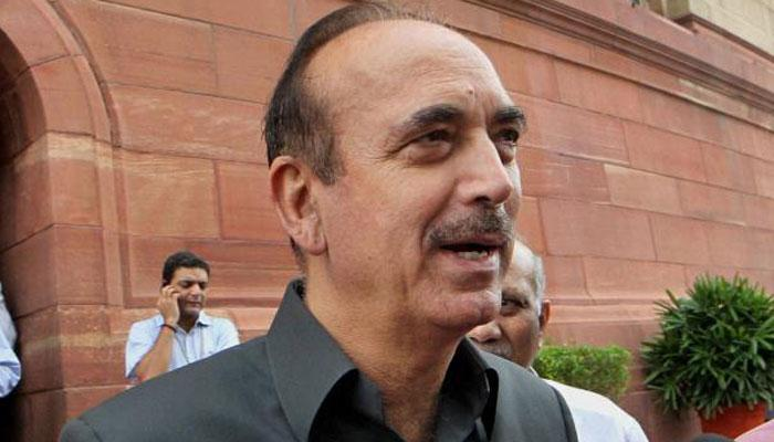कश्मीर में जो कुछ हो रहा है, वह गुजरात मॉडल है : आजाद
