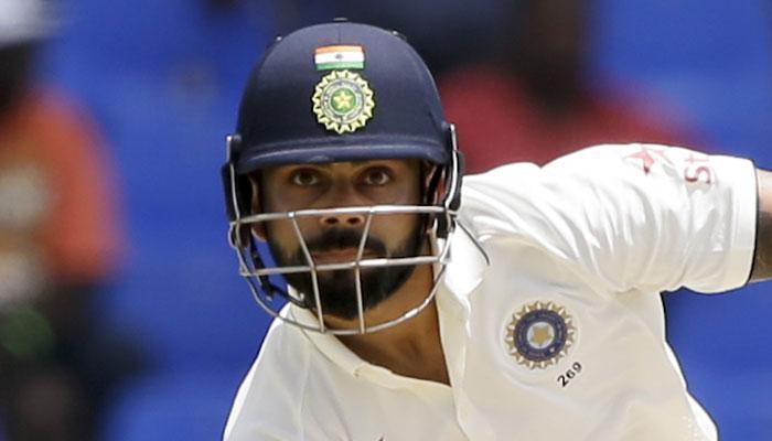 भारत बनाम वेस्टइंडीज; पहला टेस्ट, दूसरा दिन : भारत के 4 विकेट पर 404 रन, विराट कोहली की डबल सेंचुरी