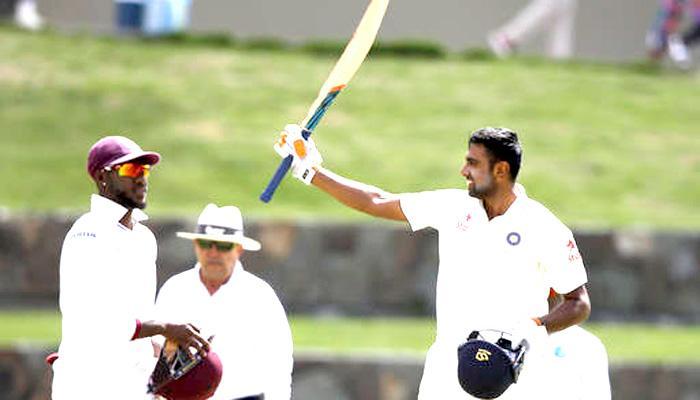 भारत बनाम वेस्टइंडीज; पहला टेस्ट: भारत की आठ विकेट पर 566 रन पर पारी समाप्ति की घोषणा