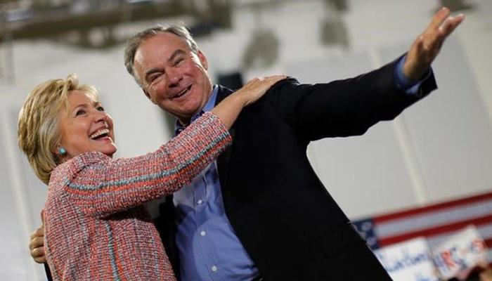 हिलेरी ने टिम केन को बनाया उपराष्ट्रपति पद का उम्मीदवार