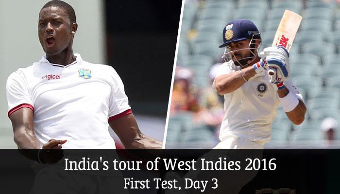 शमी की गेंदबाजी से भारत मजबूत, फॉलोआॉन के कगार पर वेस्ट इंडीज