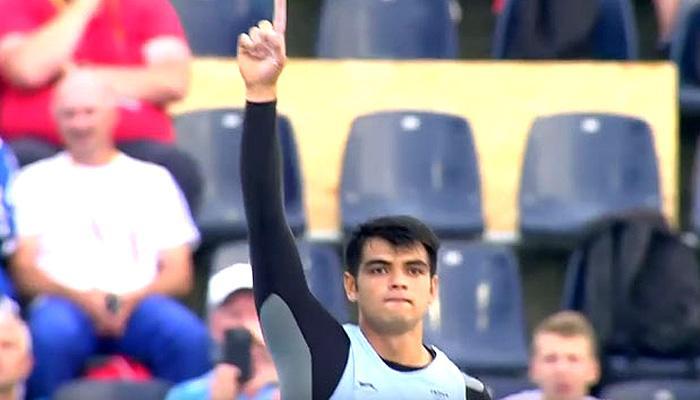 WATCH VIDEO:एथलेटिक्स स्टार नीरज चोपड़ा ने भालाफेंक में जूनियर वर्ल्ड रिकार्ड बनाया
