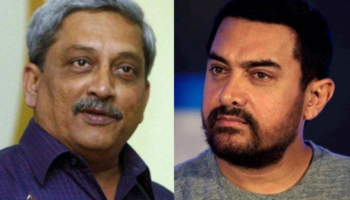 पर्रिकर ने आमिर पर साधा निशाना, बोले- जो देश के खिलाफ बोलते हैं उन्हें 'सबक' देने की जरूरत, राहुल ने किया पलटवार