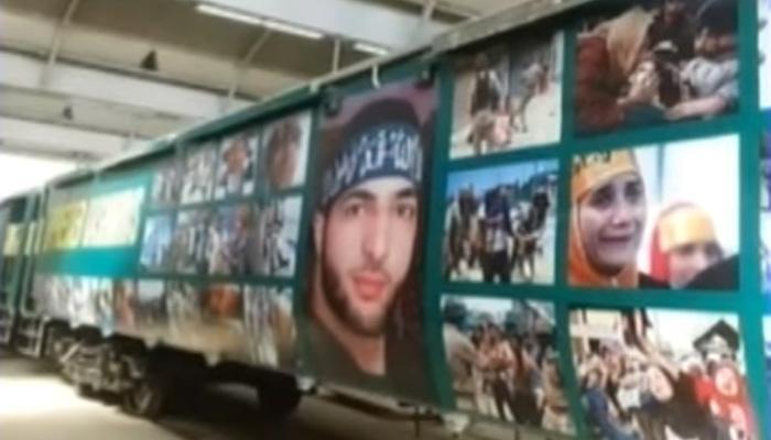 पाकिस्तान ने अपनी 'आजादी एक्सप्रेस ट्रेन' पर लगाए आतंकी बुरहान वानी के पोस्टर- देखें Video