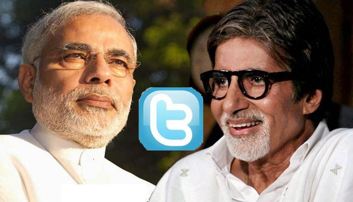 ट्विटर पर बिग बी को पछाड़ पीएम मोदी बने सबसे ज्यादा फॉलो किए जाने वाले भारतीय