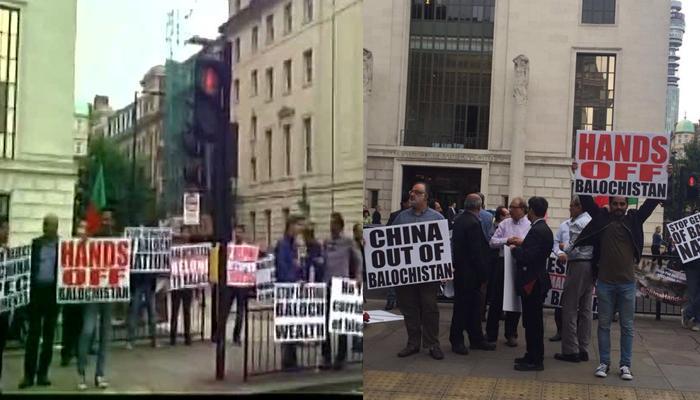 लंदन में चीनी दूतावास के सामने बलोच और सिंधी नेताओं ने किया प्रदर्शन, मोदी के समर्थन में लगाए नारे