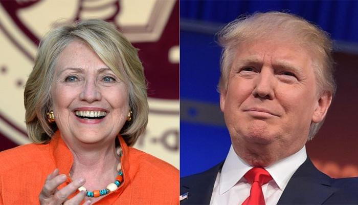 अमेरिकी राष्ट्रपति चुनाव: सर्वेक्षण में हिलेरी को मिली बढ़त, दूसरे सर्वे में आगे निकले ट्रंप