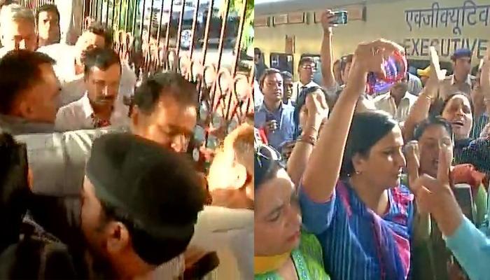 दिल्ली से लेकर लुधियाना तक केजरीवाल के खिलाफ विरोध-प्रदर्शन, महिलाओं ने दिखाई चूड़ियां
