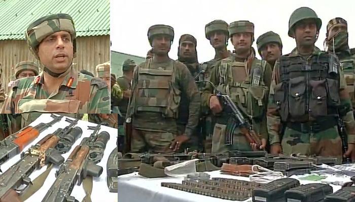हंदवाड़ा मुठभेड़: आर्मी कैंप पर हमला करनेवाले तीनों आतंकी पाकिस्तानी थे, भारी तादाद में हथियार बरामद