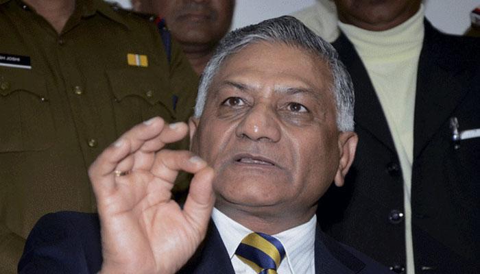 लाशों पर राजनीति कर रहे हैं कांग्रेस और AAP: वी के सिंह