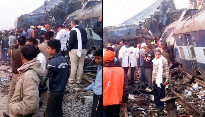 पटना-इंदौर एक्सप्रेस ट्रेन हादसे की तस्वीरें