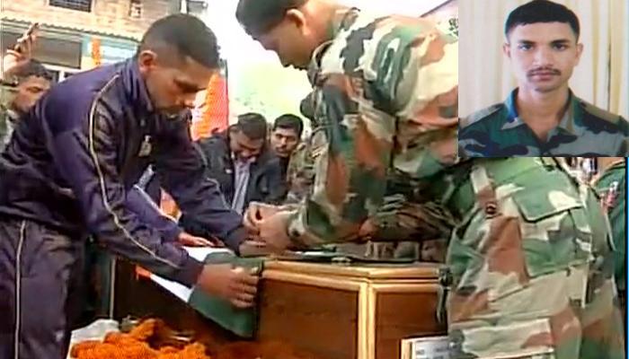 माछिल सेक्टर में शहीद शशांक सिंह का अंतिम संस्कार, श्रद्धांजलि देने उमड़े लोग