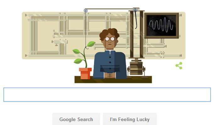 गूगल ने प्रसिद्ध वैज्ञानिक जगदीश चंद्र बसु के 158वें जन्मदिन पर उनकी याद में बनाया डूडल