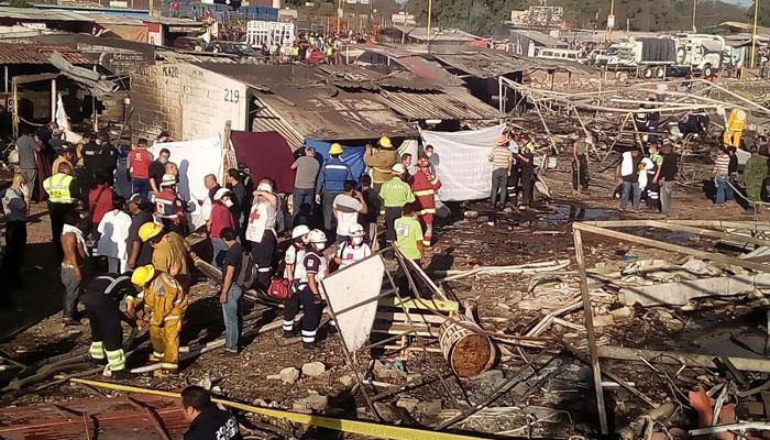 मैक्सिकों के पटाखा बाजार में भीषण विस्फोट, 29 लोगों की मौत