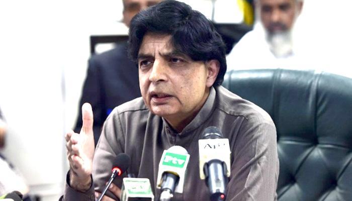पाकिस्तानी गृह मंत्री ने अतिवादी नेताओं के साथ मुलाकात का बचाव किया