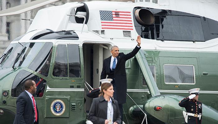 एयरफोर्स वन में आखिरी बार सवार होने से पहले ओबामा ने कहा, 'पिछले 10 वर्षों में अद्भुत चीजें हुई हैं'