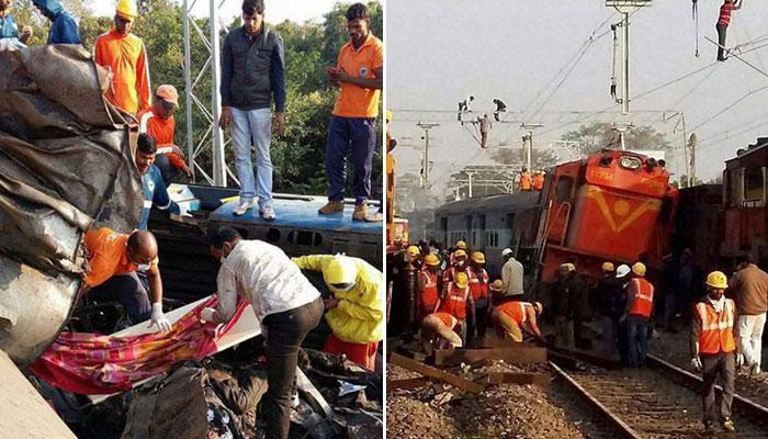 आंध्र प्रदेश : हीराखंड एक्सप्रेस के 9 डिब्बे पटरी से उतरे