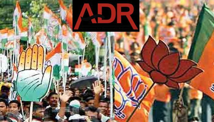 ADR ने खोला राज; राजनीतिक दलों की 69 प्रतिशत आय अज्ञात स्रोतों से