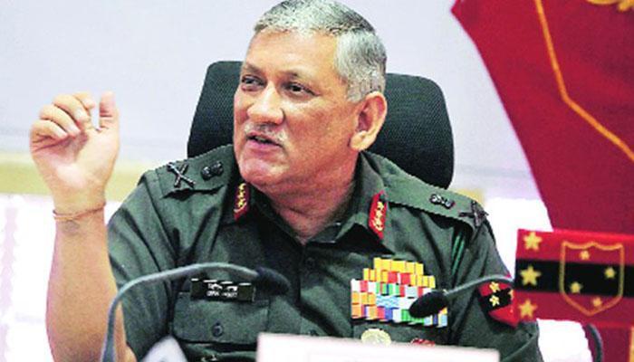 Image result for पथराव से निपटने को सेना प्रमुख ने किया संयुक्त प्रयासों का आह्वान