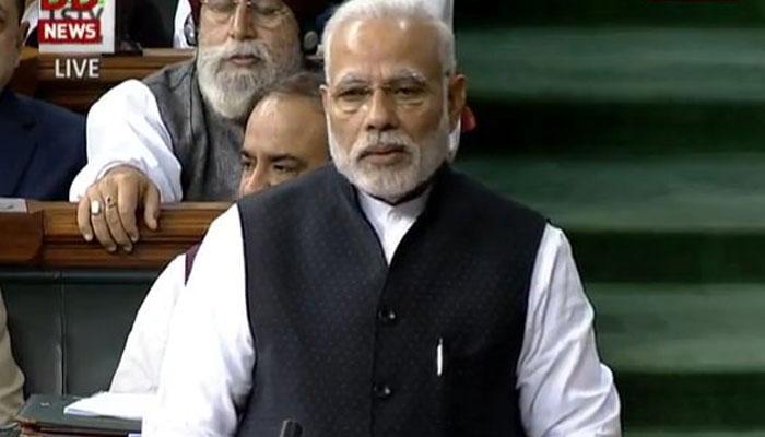 राहुल गांधी पर PM मोदी ने कसा तंज- 'धमकी तो बहुत पहले मिली थी पर भूकंप कल आया' , WATCH VIDEO