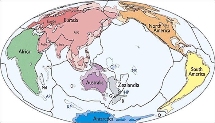 पृथ्वी को मिल सकता है 'जीलएंडिया' नामक नया महाद्वीप