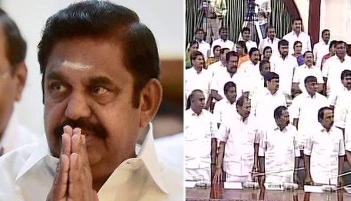 तमिलनाडु के मुख्यमंत्री पलानीस्वामी ने जोरदार हंगामे के बीच बहुमत साबित किया, बोले-शशिकला का प्रण पूरा हुआ