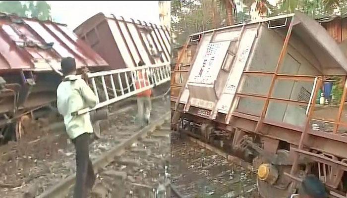 मुंबई: मालगाड़ी के तीन डिब्बे पटरी से उतरे, सेवा बाधित