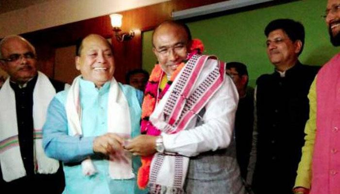 मणिपुर में भी सरकार बनाएगी भाजपा; राज्यपाल ने भेजा न्योता, बुधवार को होगा शपथग्रहण समारोह
