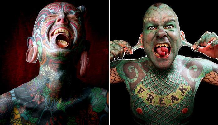दुनिया के अजीबो-गरीब टैटू वाले लोग