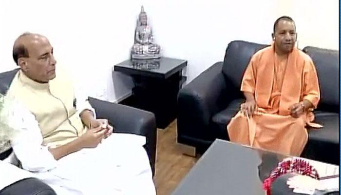 पीएम नरेंद्र मोदी और गृह मंत्री राजनाथ से मिले योगी आदित्यनाथ