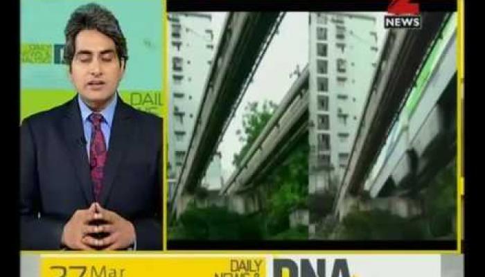 चीन की इमारत को चीरकर निकलती ट्रेन का DNA टेस्ट