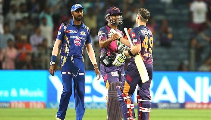 IPL-10: पुणे सुपरजॉयंट्स ने रोमांचक मुकाबले में स्मिथ की आक्रामक पारी के दम पर मुंबई इंडियंस को 7 विकेट से हराया