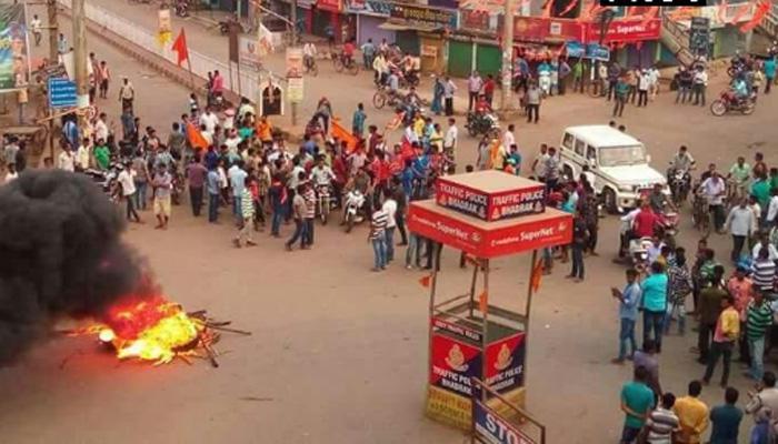 ओडिशा : भद्रक में कर्फ्यू की अवधि बढ़ाई गयी, सुरक्षाकर्मियों ने फ्लैग मार्च किया
