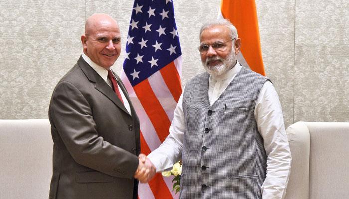 अमेरिका ने भारत को बताया प्रमुख रक्षा सहयोगी, NSA मैकमास्टर से मिले पीएम नरेंद्र मोदी