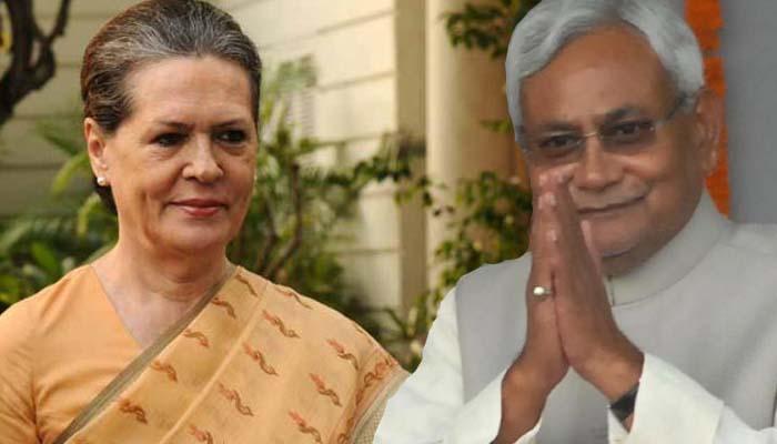 कांग्रेस अध्यक्ष सोनिया गांधी से मिले नीतीश, राष्ट्रव्यापी 'महागठबंधन' पर 45 मिनट तक गुफ्तगू